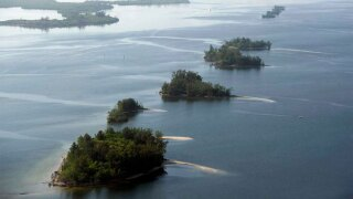 Spoil islands in Indian River Lagoon