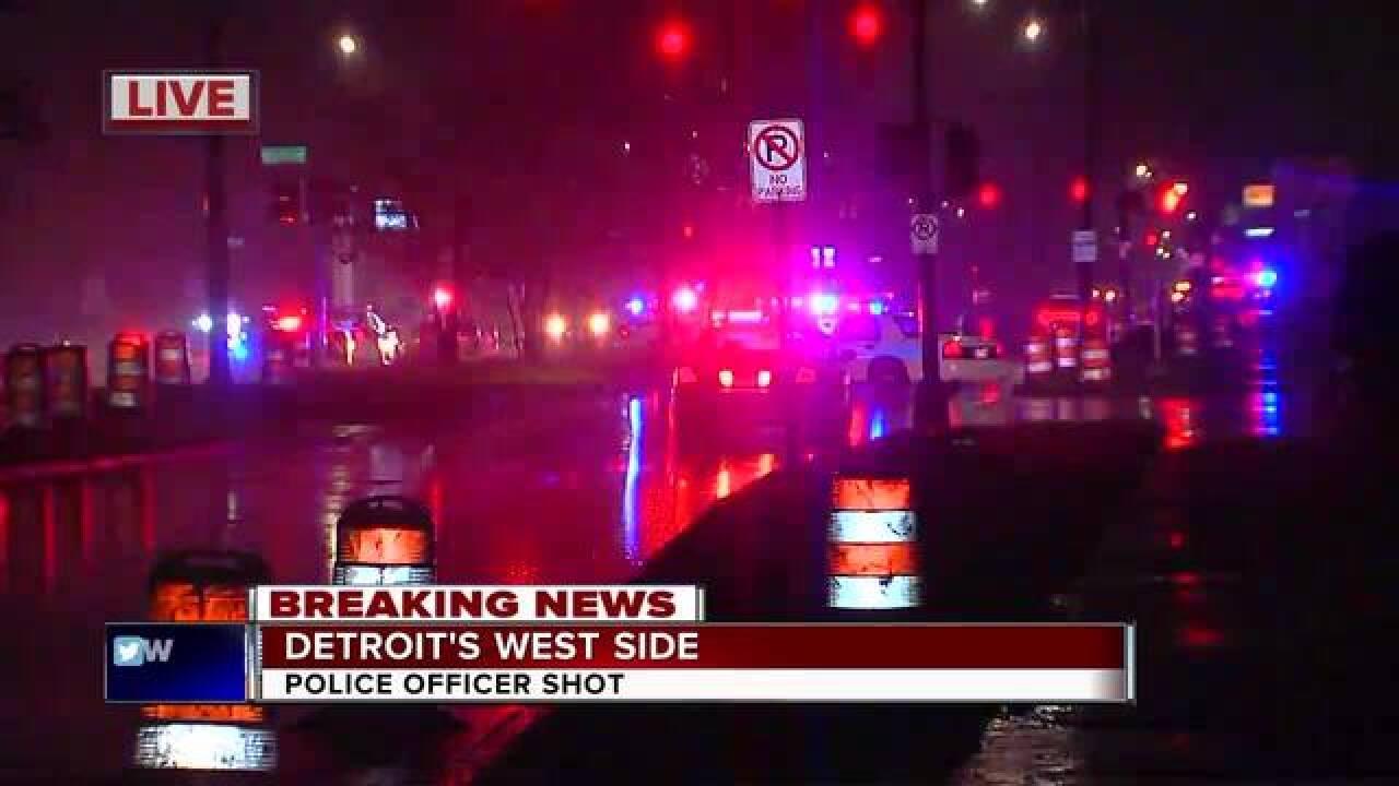Detroit police officer shot on city's west side