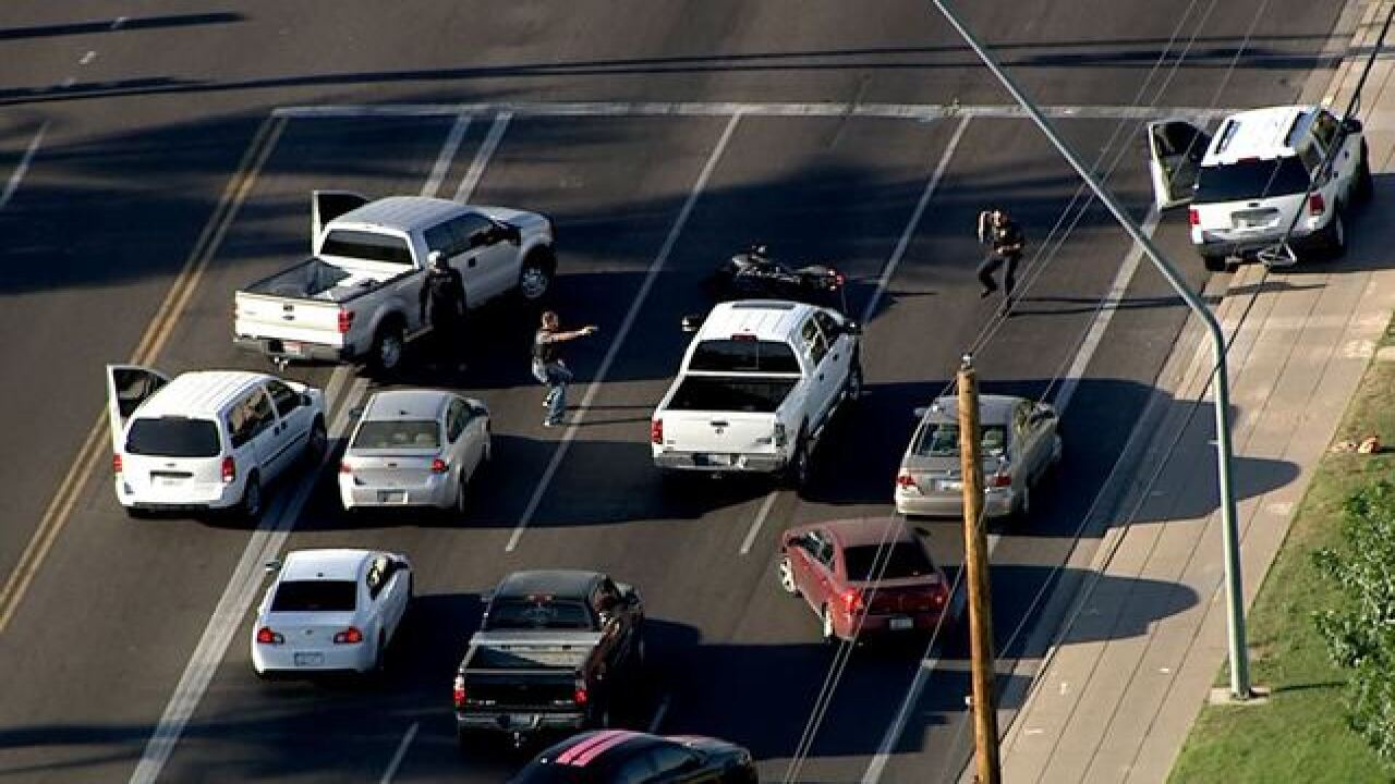 PHOTOS: Police draw guns in East Valley chase