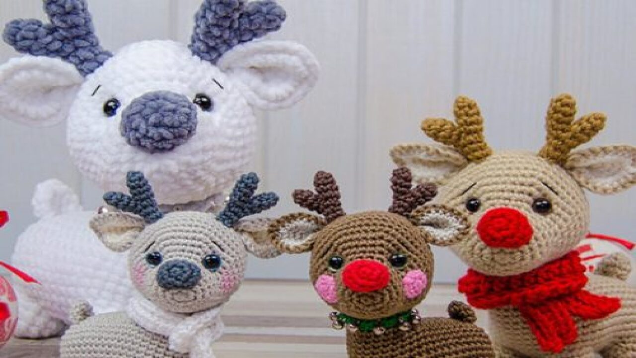 Adorable Crochet Reindeer Would Make A Great Holiday Gift