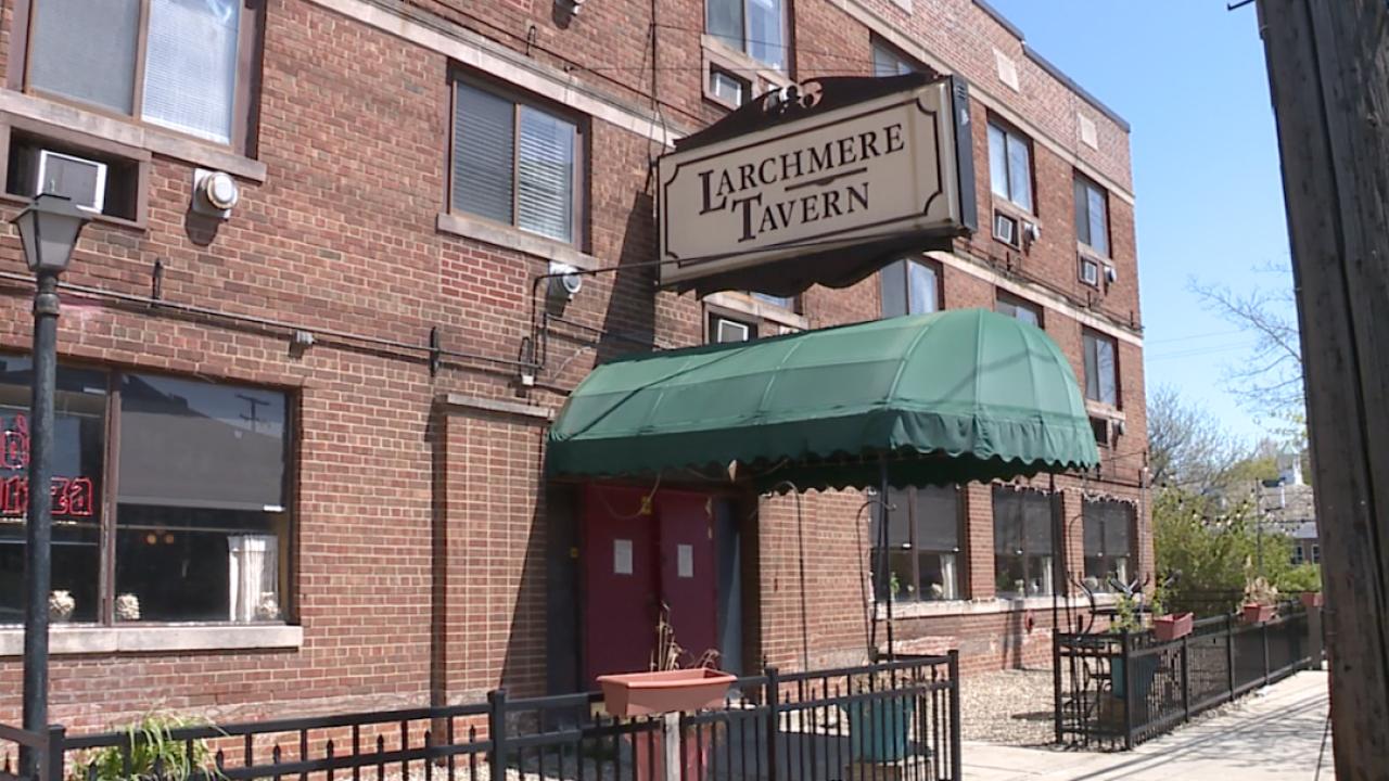 Larchmere Tavern Fredo's Pizza