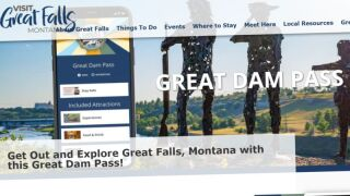 Great Dam Pass highlights Great Falls attractions and businesses