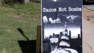 Corpus Christi Tacos Not Bombs feeding area homeless population.