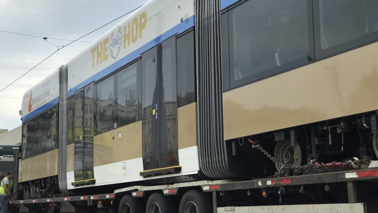 Final streetcar vehicle arrives in Milwaukee