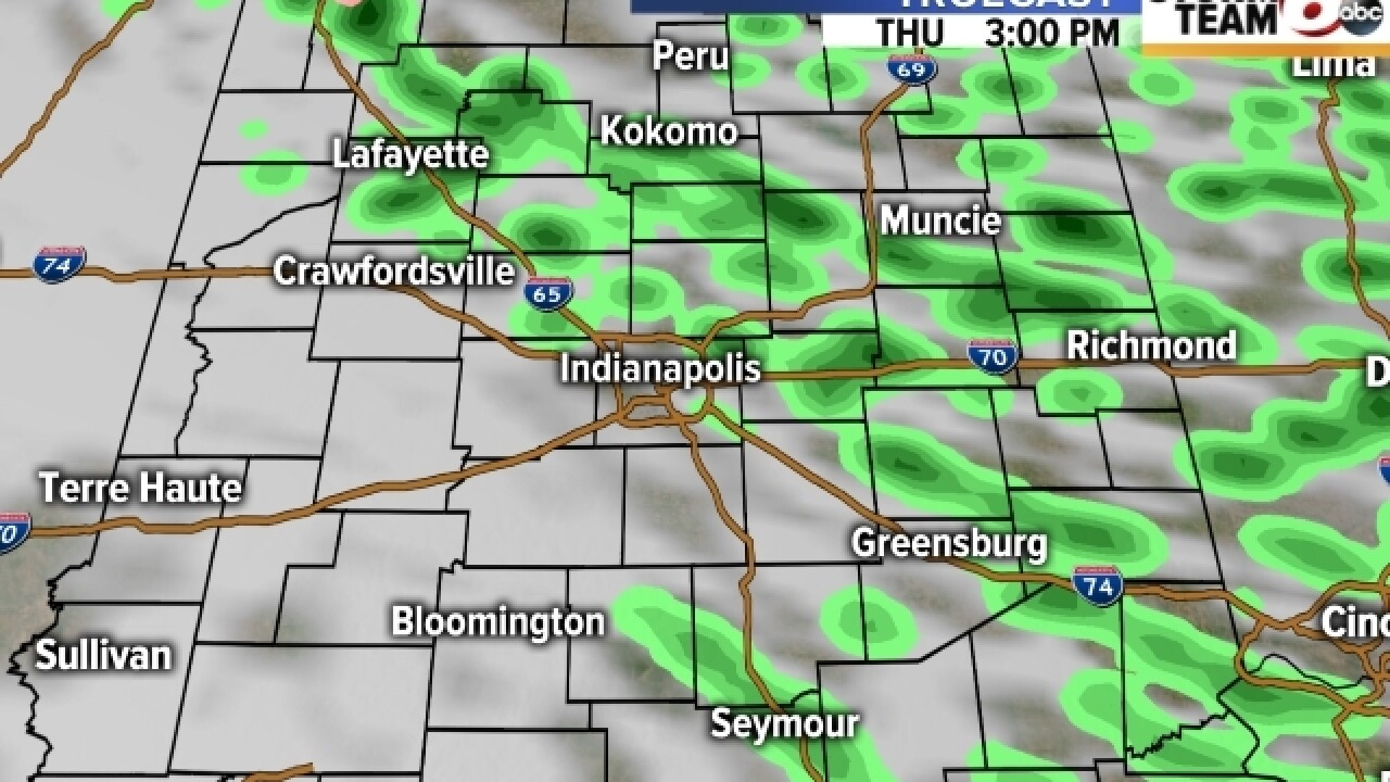 TIMELINE: Scattered showers all day Thursday
