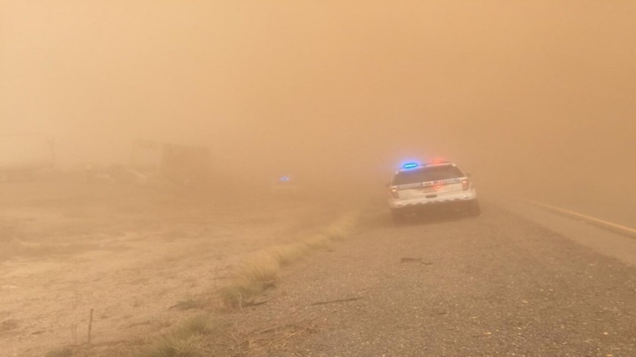 I-10 dust storm safety