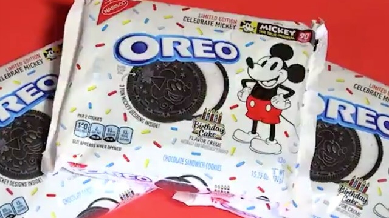 Birthday cake-flavored Oreos are coming in honor of Mickey Mouse's 90th