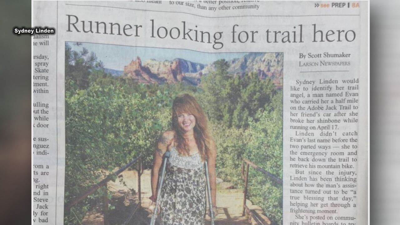 Sedona newspaper story about trail rescue