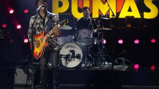 "Eric Burton of Black Pumas performs ""Colors"" at the 63rd Grammy Awards"