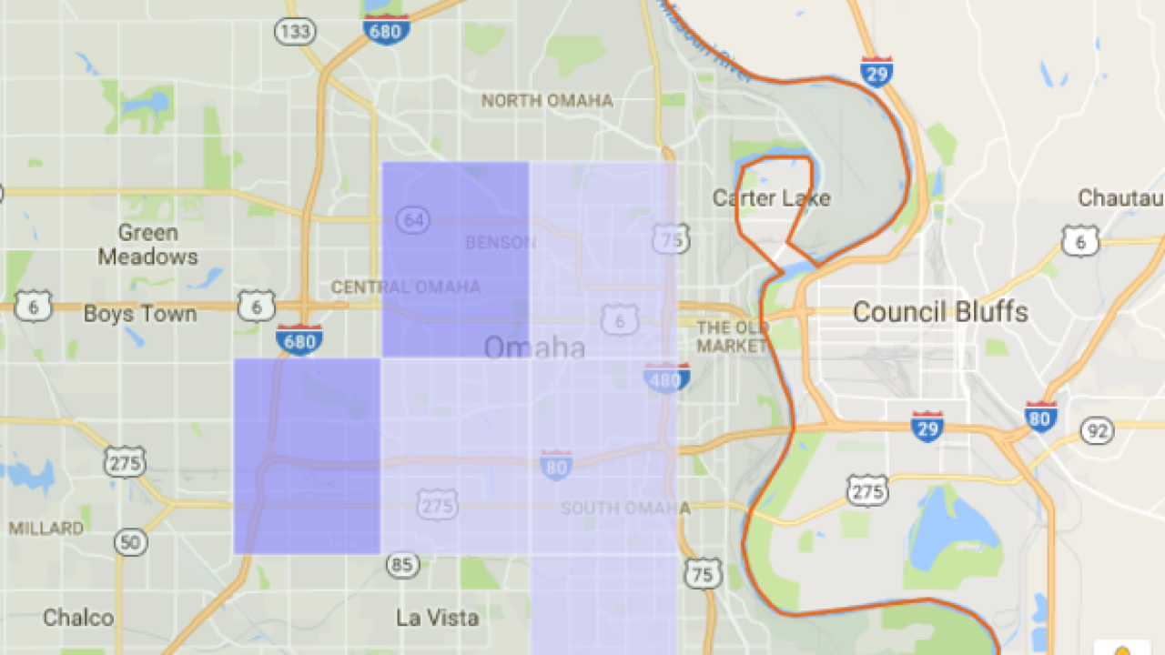 OPPD customers experiencing outage on smud map, ipl map, epe map, jea map, wapa map, lockheed martin map,