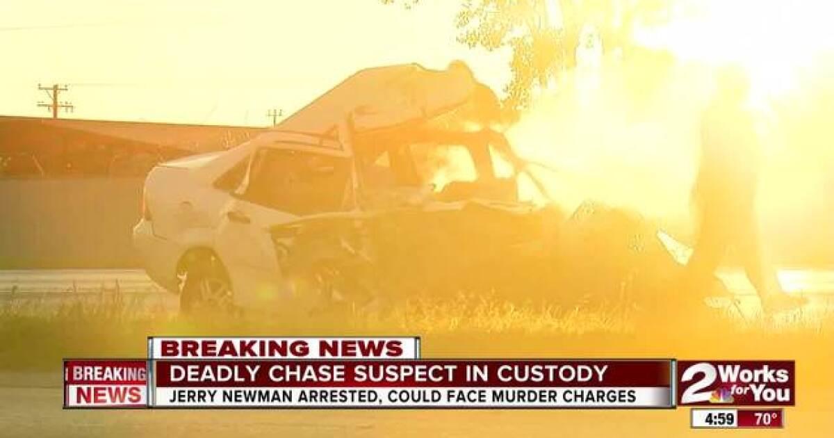 Man in custody after fatal crash on Highway 75, Tulsa
