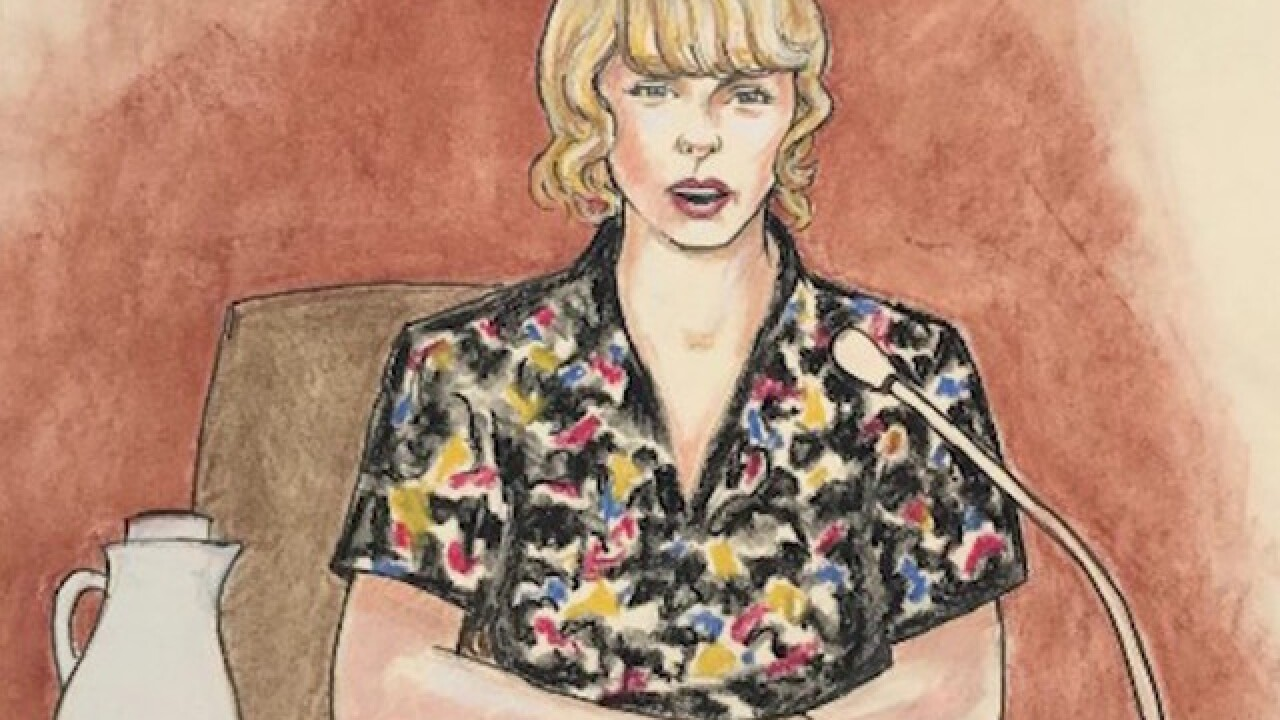 Taylor Swift fans not loving courtroom sketches of singer