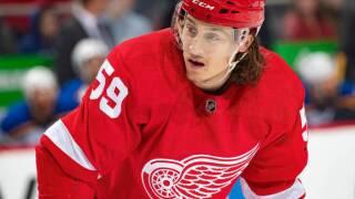 Red Wings' Tyler Bertuzzi suspended 2 games for hit on Calvert