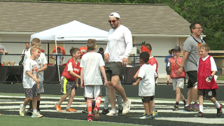 Baker Mayfield football camp