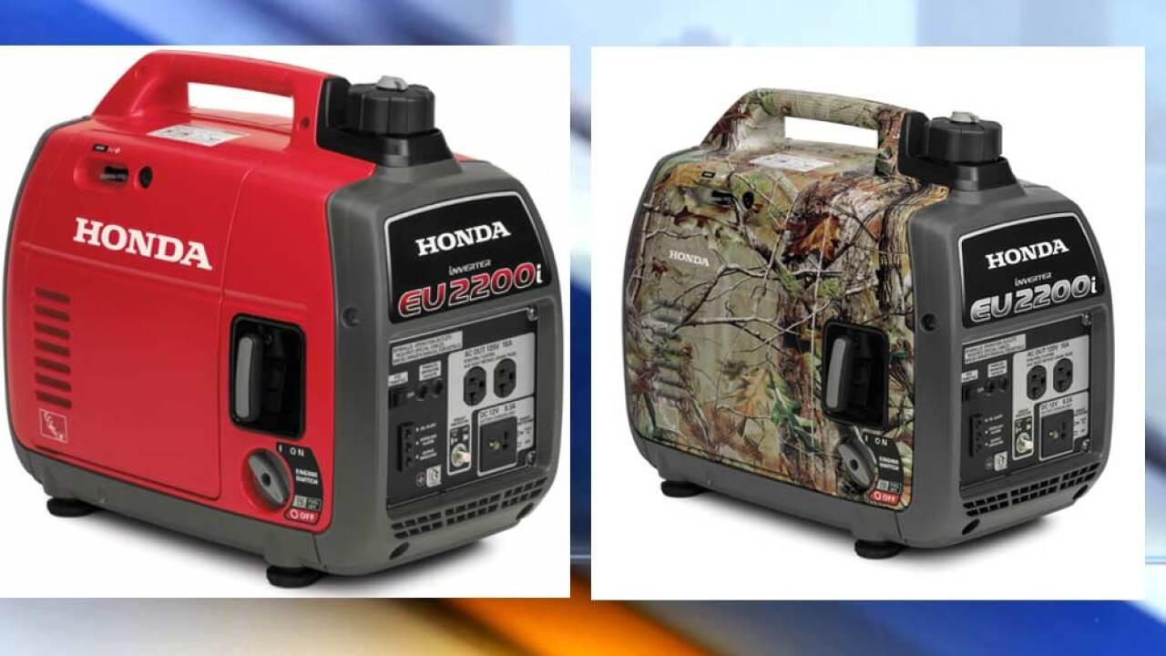 Honda recalls portable generators due to fire and burn hazards