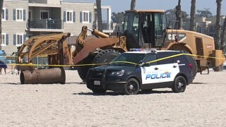 Woman on California beach run over, killed by construction vehicle