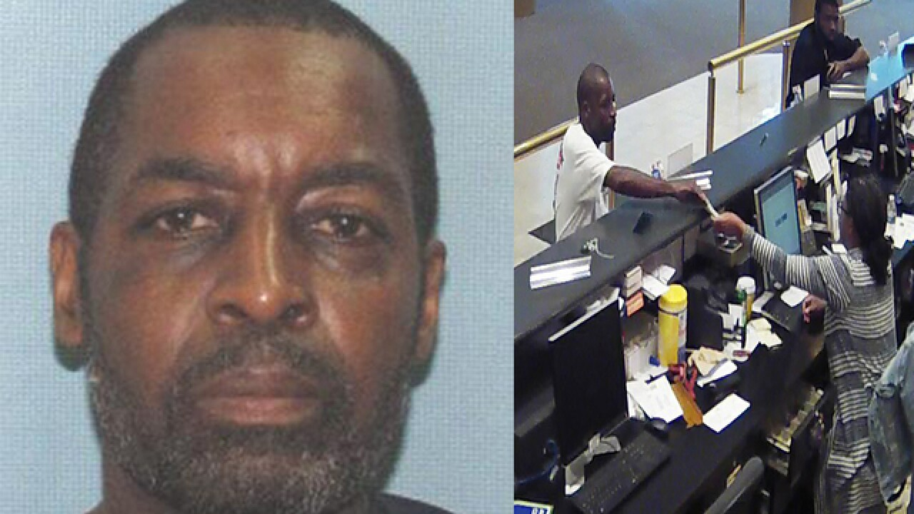 Authorities searching for man believed to have robbed three Cleveland banks in the past week