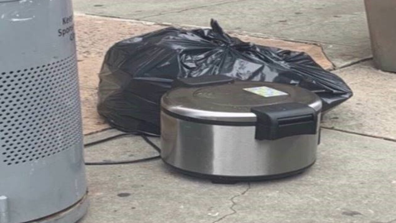 The man seen placing rice cookers around downtown New York is in custody, police say