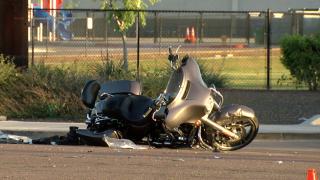 Motorcycle crash near Warner and McQueen