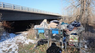 Unable to evict homeless, MDT facing fines for waste at Reserve Street encampment