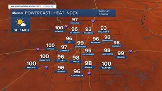 Heat Index Forecast July 27