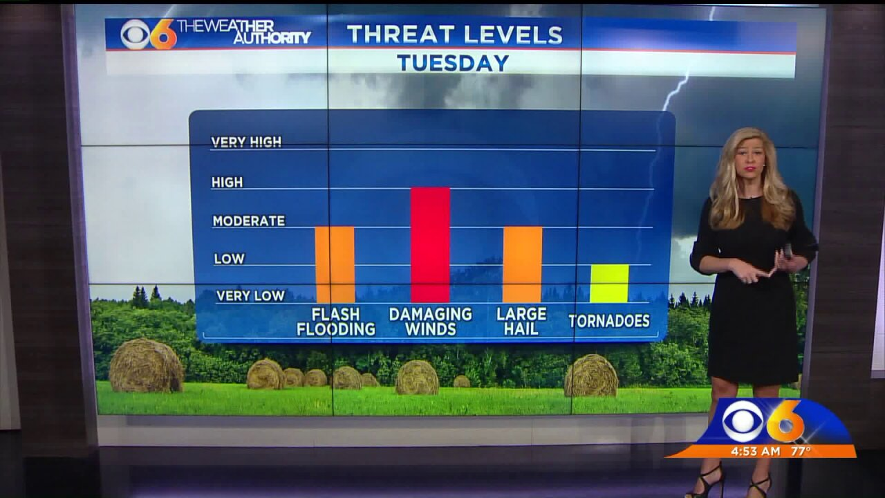 Nikki-Dee updates timing and main threats for today'sstorms