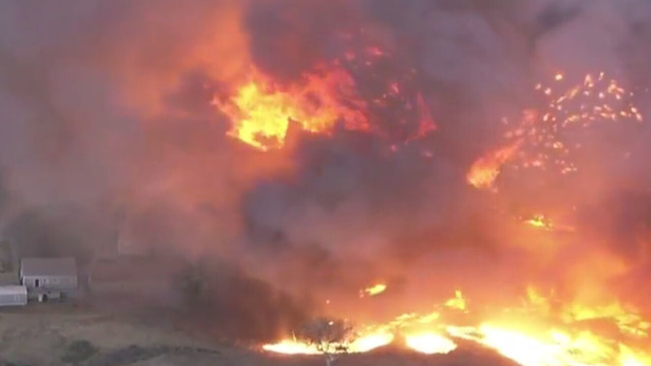 Woolsey Fire: 75,000 homes evacuated as fire spreads in