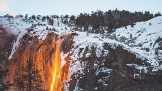 A Rare 'firefall' Will Be Happening Soon At Yosemite