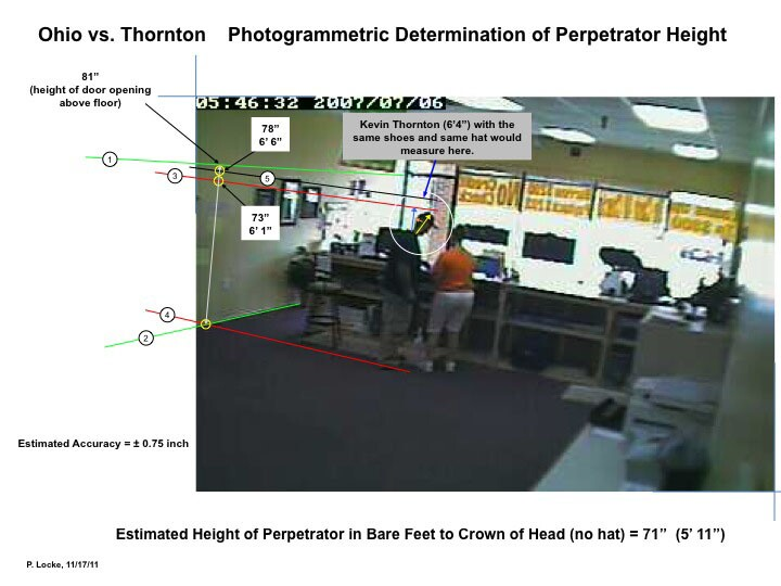 Phil Locke's analysis of crime video shows robber was five inches shorter than Thornton.