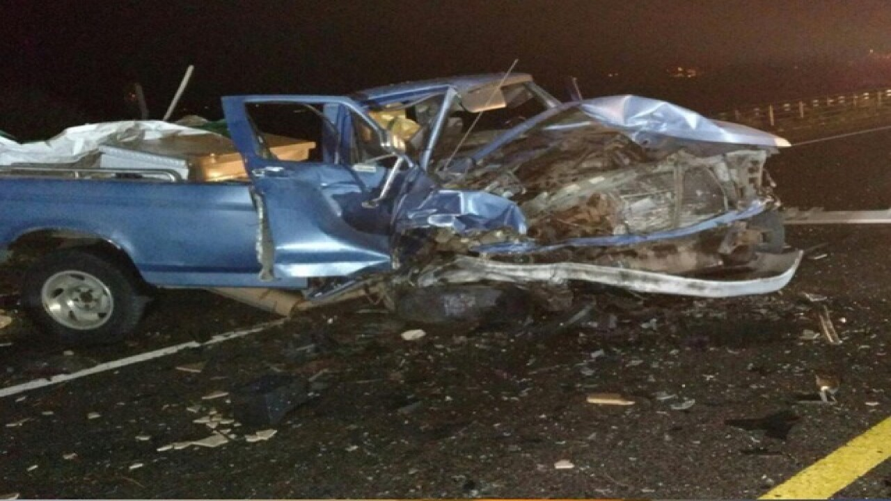 PD: Driver BAC 3x legal limit in wrong-way crash