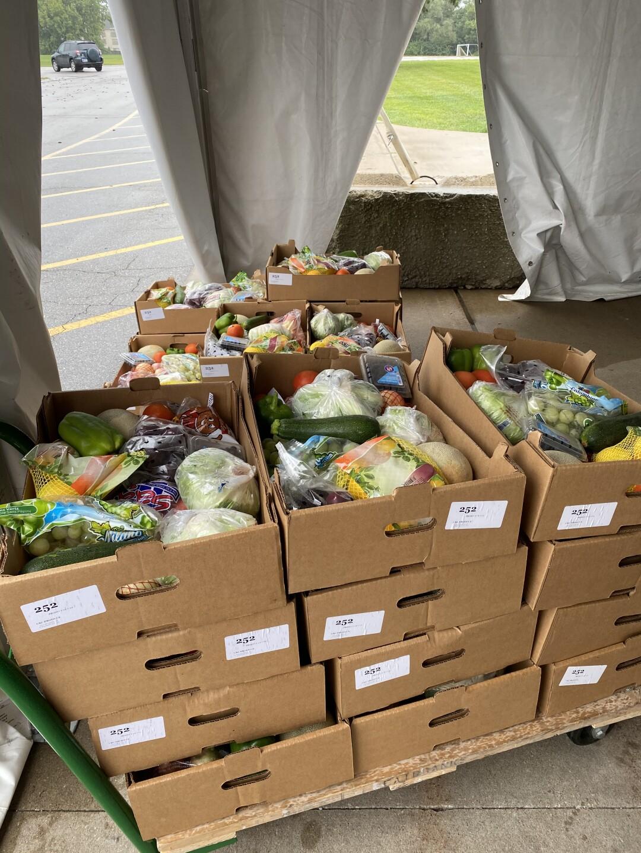 KCKPS produce distribution