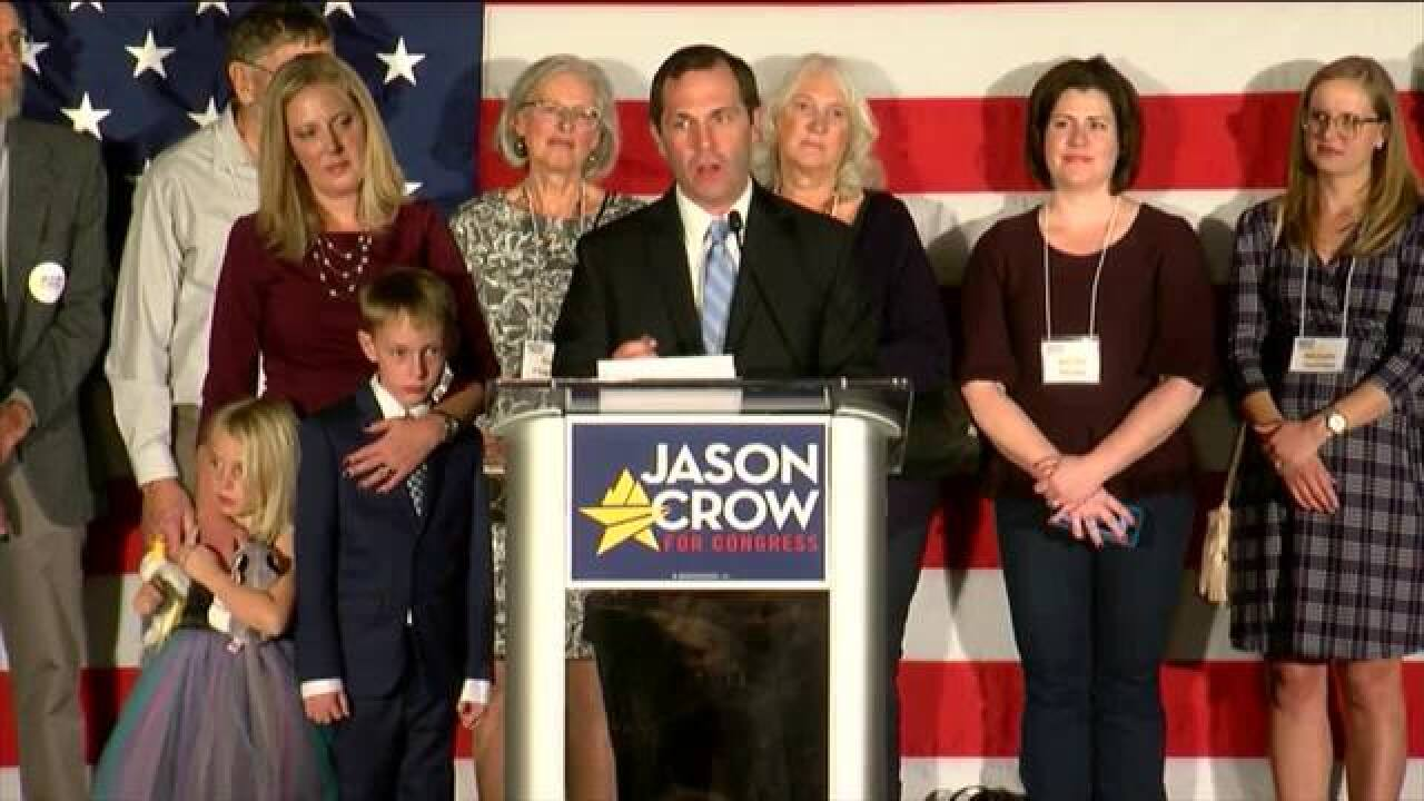 Crow defeats Coffman in Colorado's CD6
