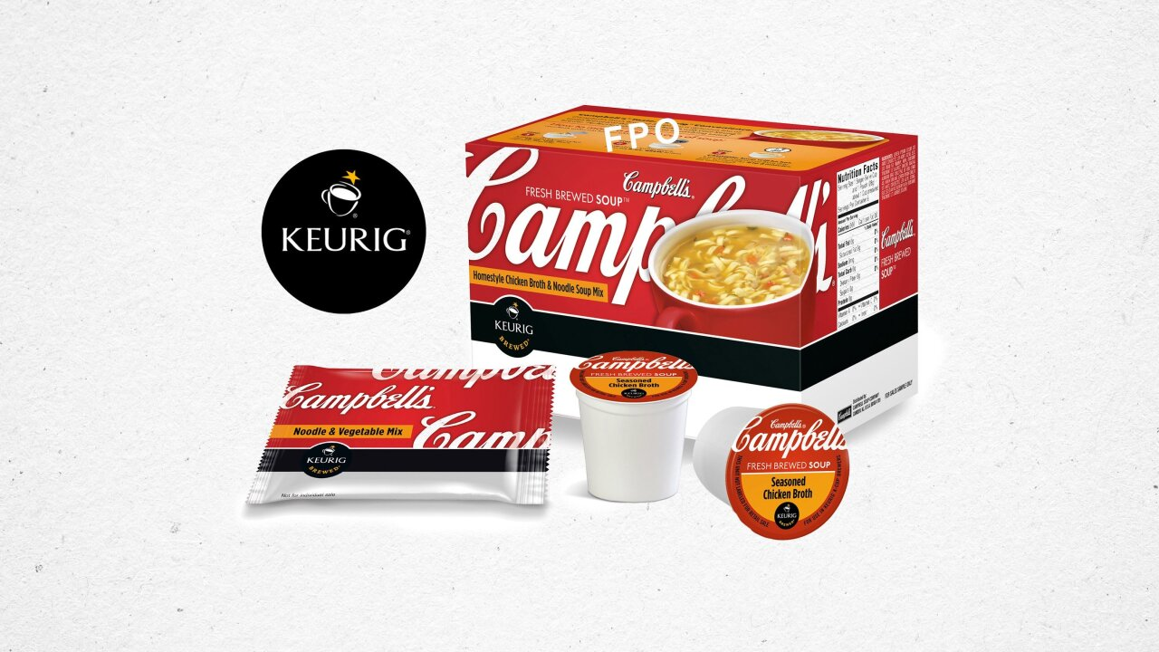 Keurig launches K-Cups containing Campbell's Soup