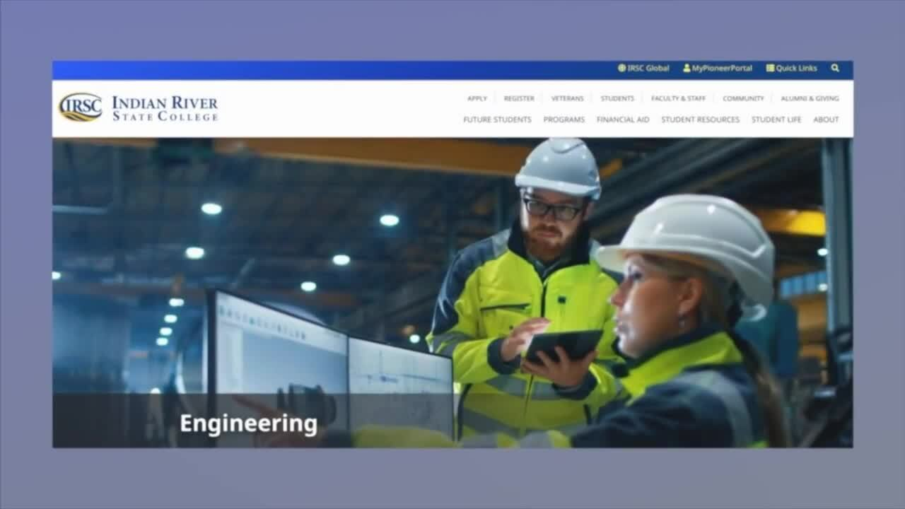 Indian River State College engineering program landing page
