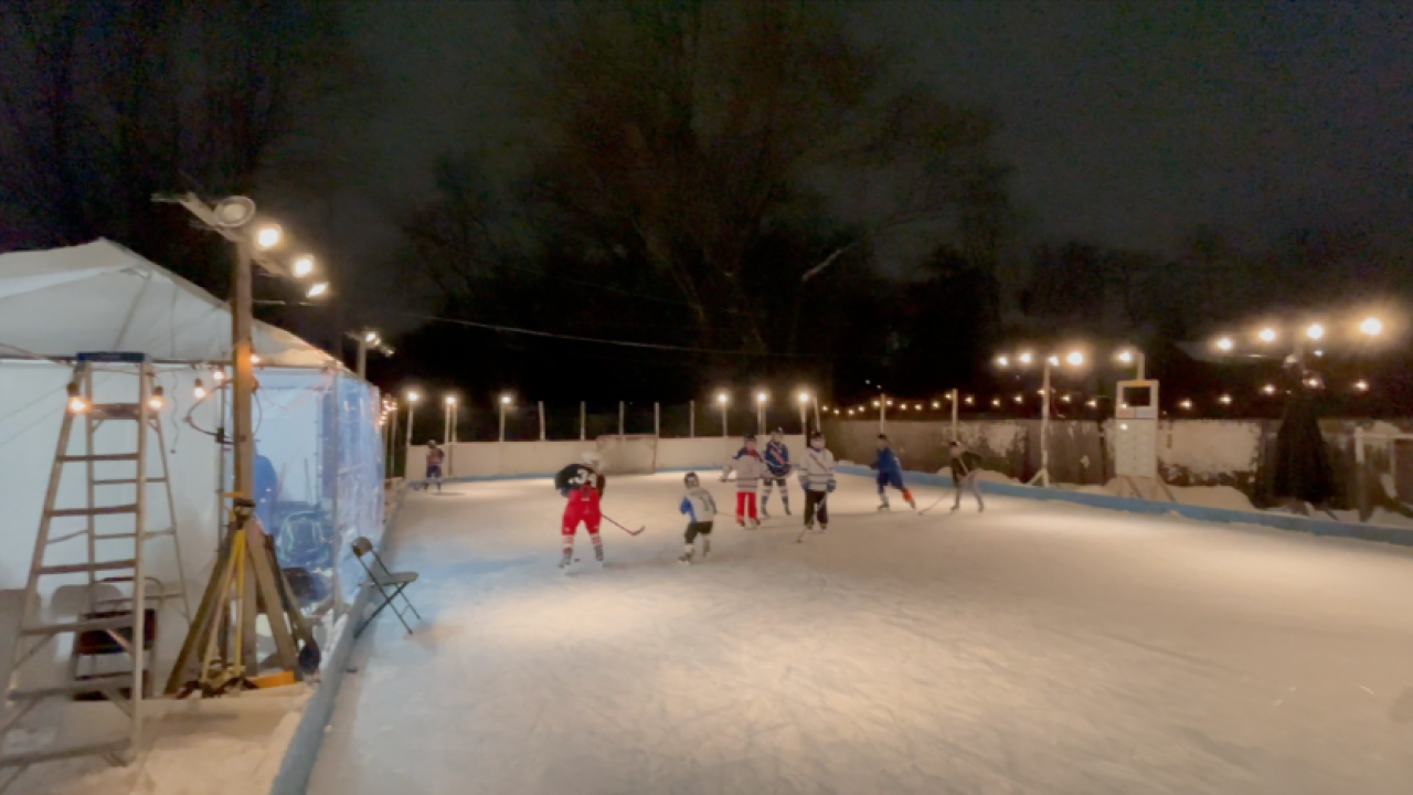 Livonia outdoor ice rink
