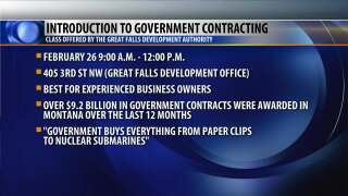 Montana small businesses can learn about government contracts