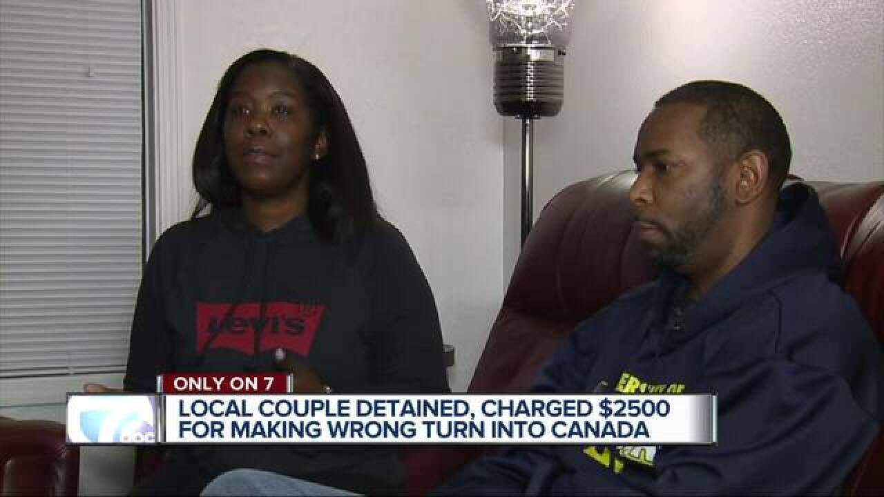 Couple arrested after wrong turn to Canada