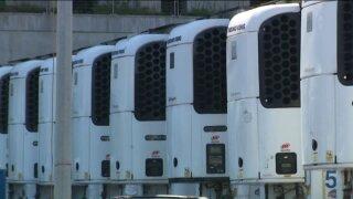 freezer trucks for COVID-19 victims
