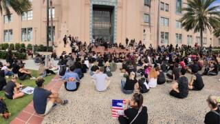 San Diegans protest in Balboa Park
