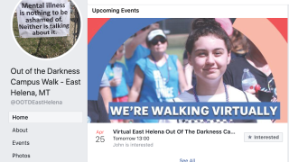 4th Annual East Helena Out of the Darkness Walk now virtual