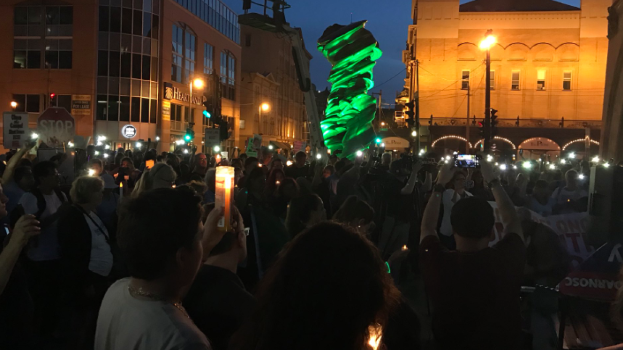 Immigration camps protest Friday night in Milwaukee