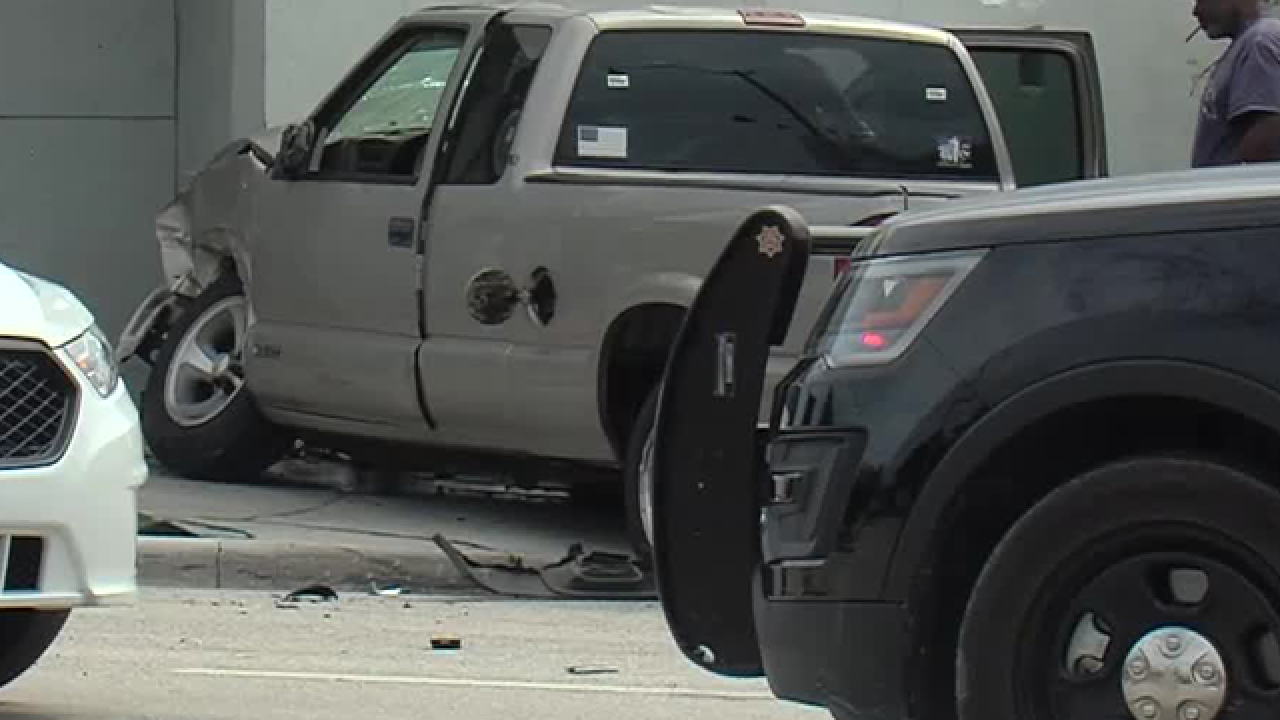 Vehicle hits West Palm Beach building