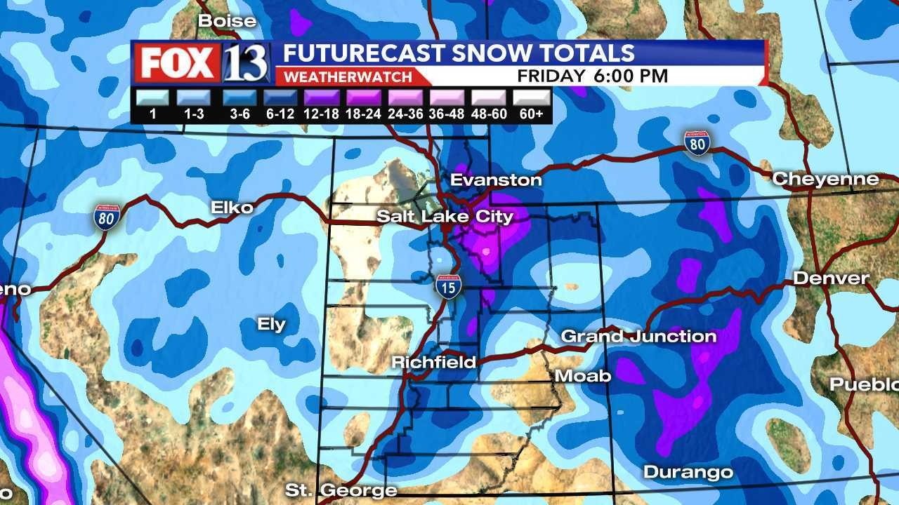 Utah's mountains may get two feet of snow as major storm moves in