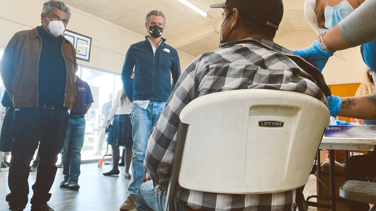 Governor Gavin Newsom, comedian George Lopez discuss getting farm and agriculture workers vaccinated quickly