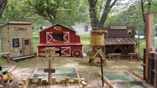 This Man Built His Wife A Wild West-Style Town For Their Chickens