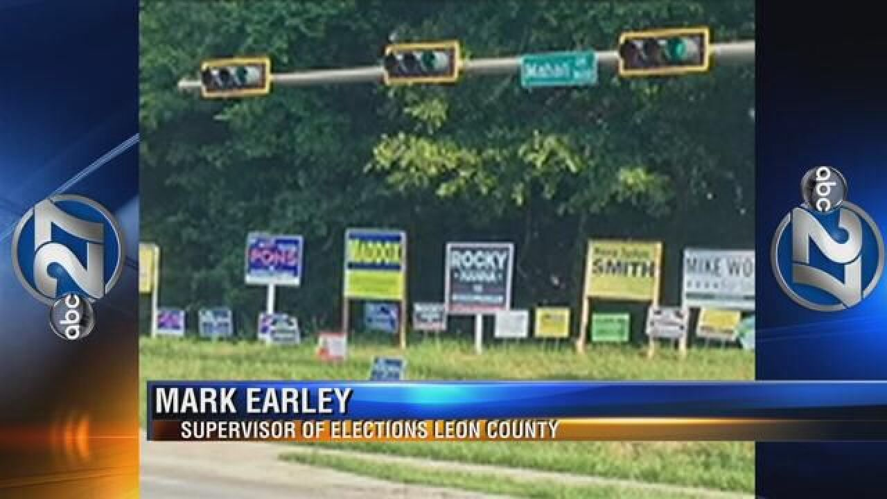 Several Political Sign Ads Still Up Around the Capital City