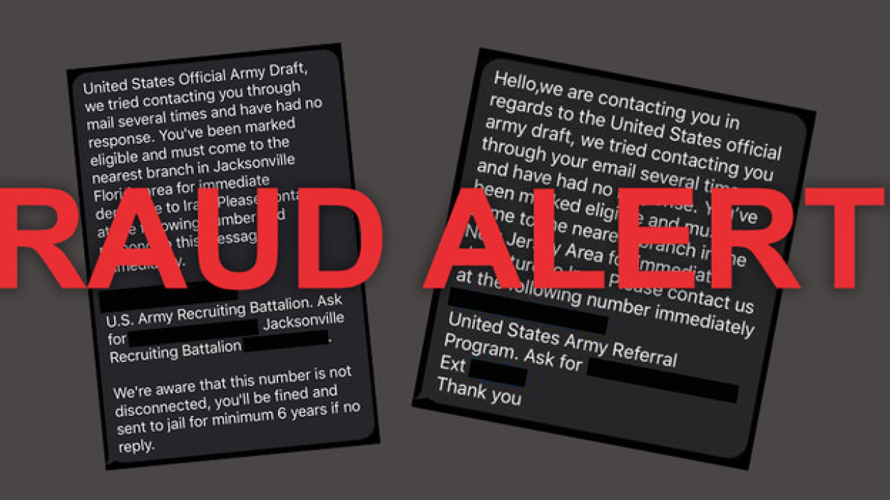 U.S. Army Recruiting Command fraud alert