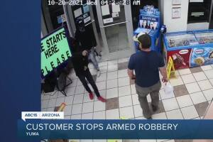 Former Marine stops armed robbery attempt at Yuma Chevron store
