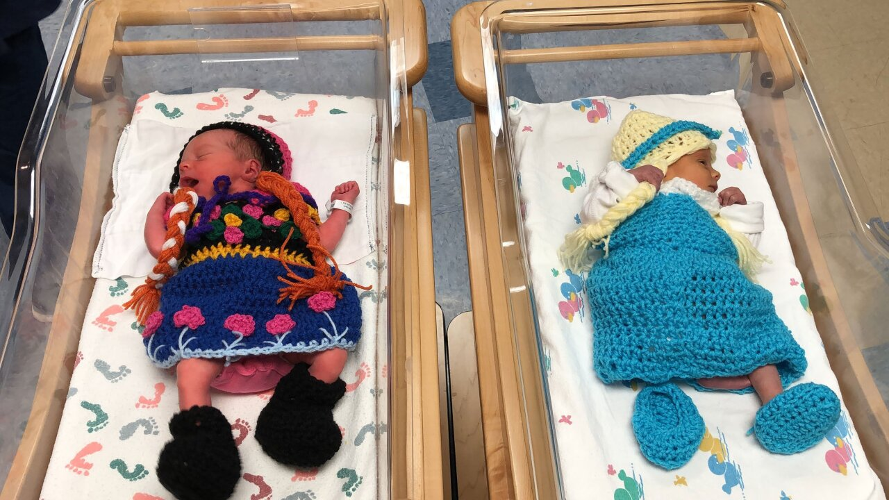 Hospital dresses newborns as 'Frozen 2' characters