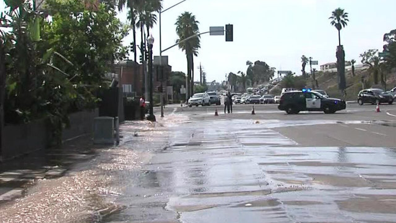 Water main break forces businesses to close in Mission Hills